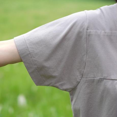 homspun / フロントギャザー半袖プルオーバー