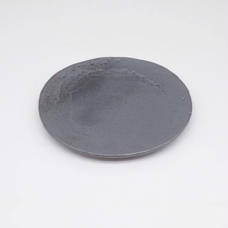 比地岡 陽子 / 銀彩釉銘々皿(実物写真609)