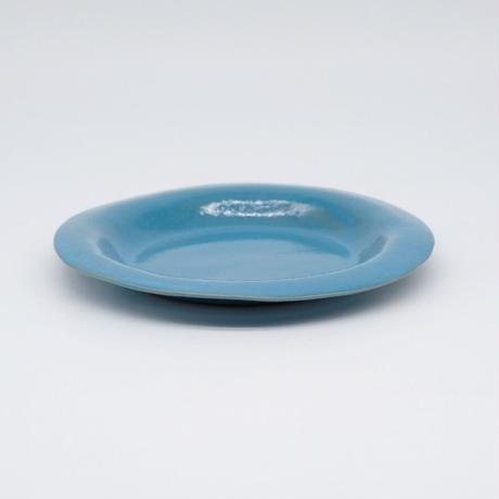 teto ceramic / リムプレート・中・モロッコブルー(実物写真738)