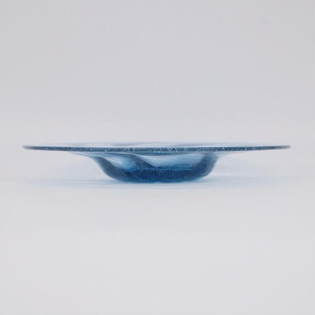 森永 豊 / 高台モールド皿 オールドチャイナブルー (実物写真1125)