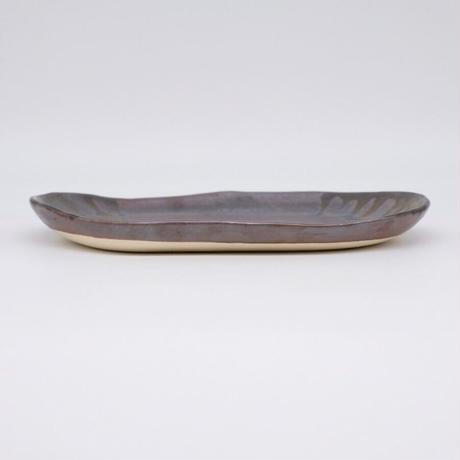 比地岡 陽子 / 金彩釉・楕円皿 (実物写真1032)