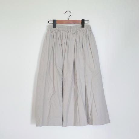 homspun / コンパクトウェザー ダブルポケット ギャザースカート (ライトグレー S)