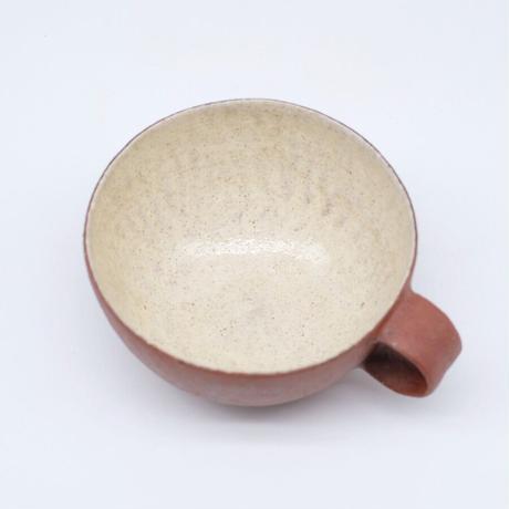 井内 素 / スープカップ・赤 (実物写真1027)