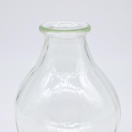 森永 豊 / 台付モールド花瓶・中・透明(実物写真369)