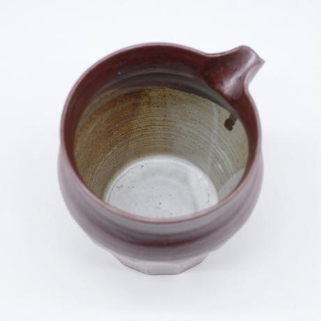 比地岡 陽子 / 銀彩釉片口・中 (実物写真600)