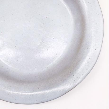 teto ceramics / リム皿・中・白透明釉 (実物写真250)
