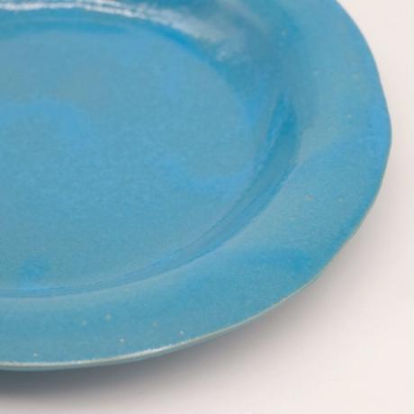 teto ceramic / リムプレート・中・モロッコブルー(実物写真703)