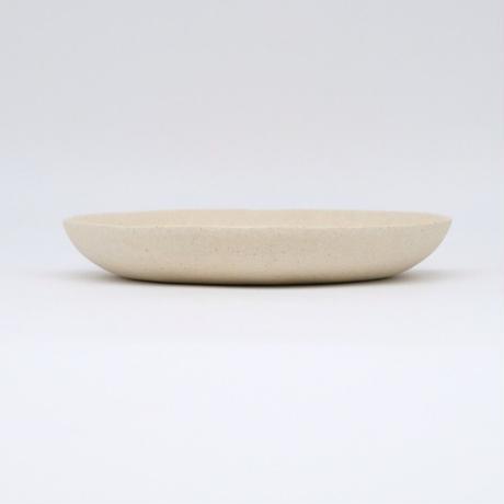 高田かえ / 白土平皿 (実物写真515)