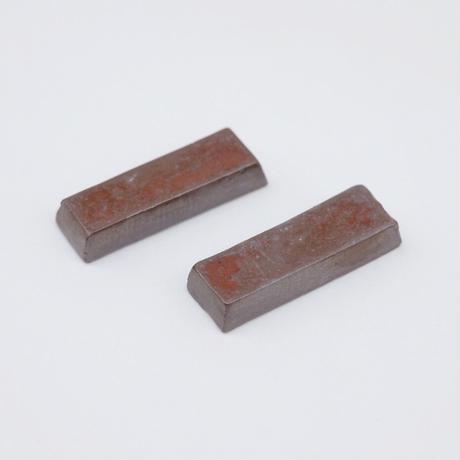 比地岡 陽子 / 銀彩箸置き 2つセット(実物写真731)