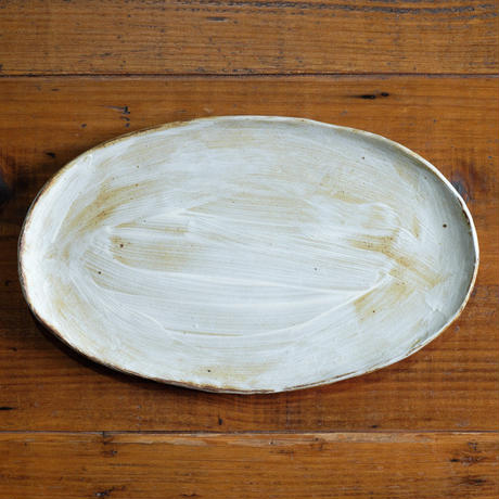 Kobo syuro 粉引楕円皿2(現品写真)