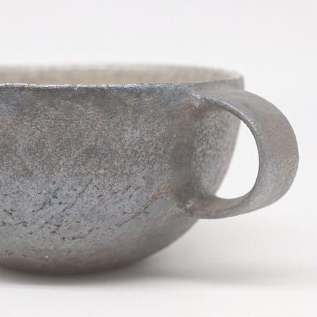 井内 素 / スープカップ・黒(実物写真1005)