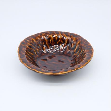 mouhitoaji / 茶色いスープ皿・飴色釉 (実物写真729)