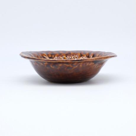mouhitoaji / 茶色いスープ皿・飴色釉 (実物写真273)