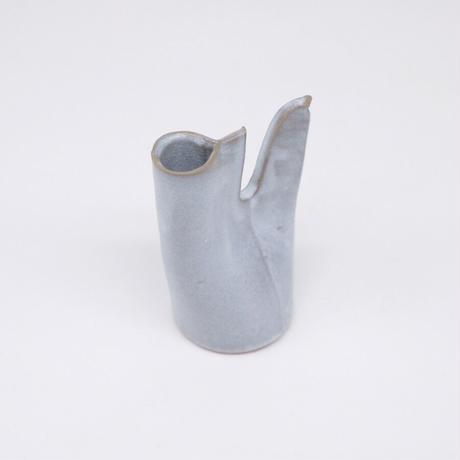 teto ceramic  / 鳥の一輪挿し・白透明釉薬 (実物写真981)