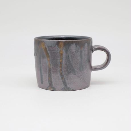 比地岡 陽子 / 金彩流し銀彩マグカップ (実物写真572)