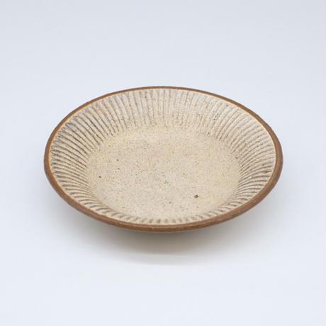 鈴木 進 / 粉引しのぎ浅鉢皿 (実物写真560)