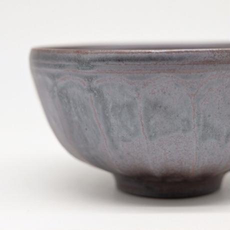 比地岡 陽子 / 銀彩釉 面取飯碗 (実物写真587)