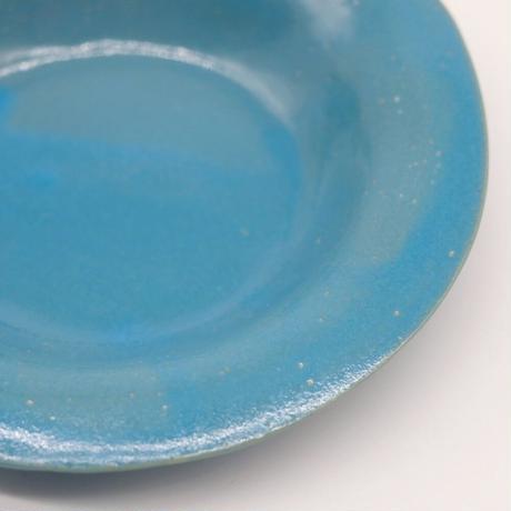 teto ceramic / リムプレート・小・モロッコブルー(実物写真828)