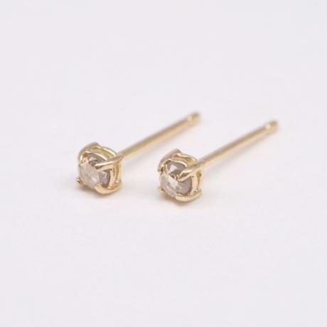 y.h.a accessories / ピアス / K18×Dia-2.5Rose-Brown (実物写真1095)