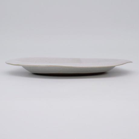 teto ceramics / オーバルプレート・白マット釉薬(実物写真822)