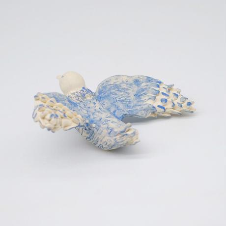 mouhitoaji / 青い鳥のオブジェ (実物写真563)