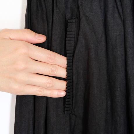 homspun / リネンバイオ ギャザースカート (ブラック S)