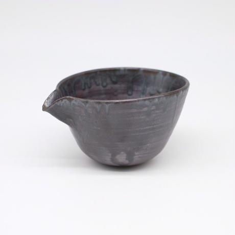 比地岡 陽子 / 銀彩釉片口深鉢 (実物写真598)