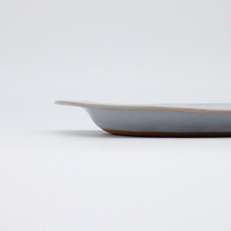 teto ceramic / リムプレート・中・白透明釉薬 (実物写真42)