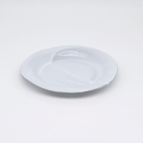 teto ceramic / リムプレート・中・白透明釉薬 (実物写真818)
