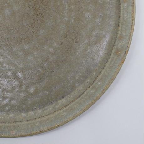 吉永 哲子 / 8寸リム皿・さびあさぎ(実物写真646)