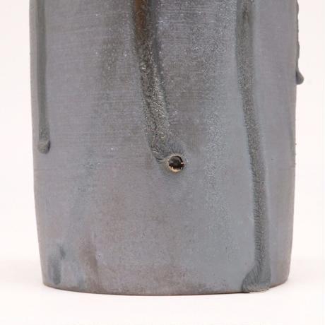 比地岡 陽子 / 金彩流し銀彩釉花瓶 (実物写真592)