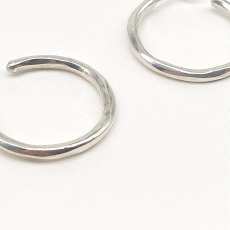 y.h.a accessories / Silver ピアス・Hammered-circle /S(実物写真182)