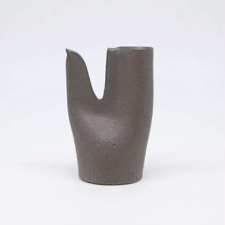 teto ceramic / 鳥の一輪挿し・錆鉄釉 (実物写真817)