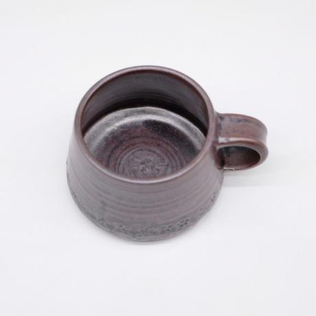 比地岡 陽子 / 銀彩釉 セレンディピティマグ (実物写真595)