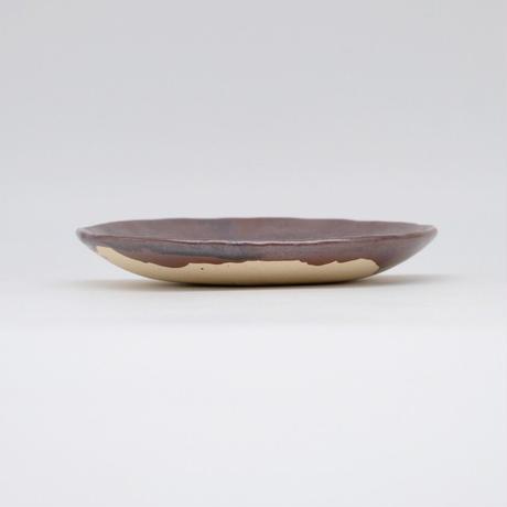 比地岡 陽子 / 銀彩6寸皿(実物写真671)