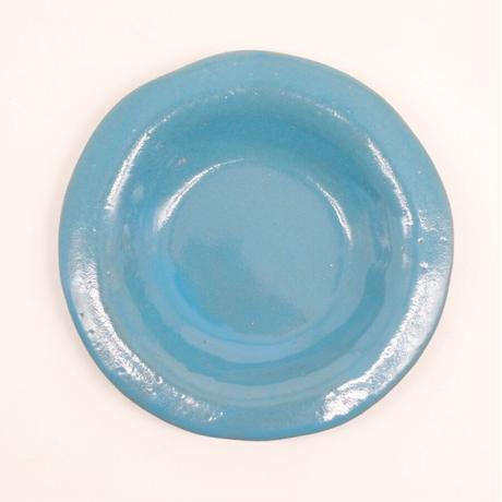 teto ceramic / リムプレート・小・モロッコブルー(実物写真1082)