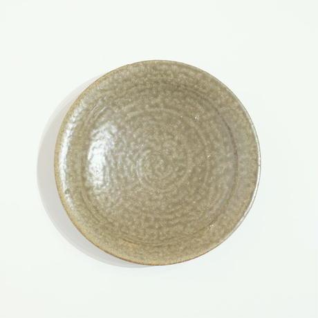 鈴木 進 緑釉・17センチ皿(実物写真)