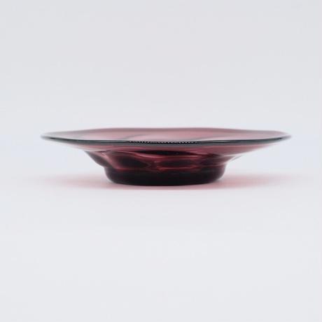 森永 豊 / 高台モールド7寸皿・葡萄色 (実物写真1109)