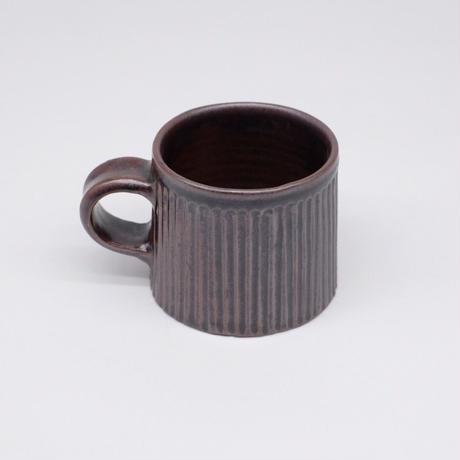 比地岡 陽子 / 銀彩釉 台形しのぎマグカップ (実物写真571)