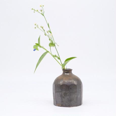 比地岡 陽子 / 金彩釉花瓶・小 (実物写真1011)