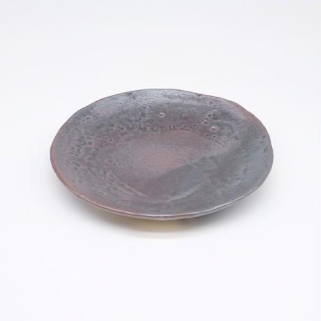 比地岡 陽子 / 銀彩6寸皿(実物写真579)