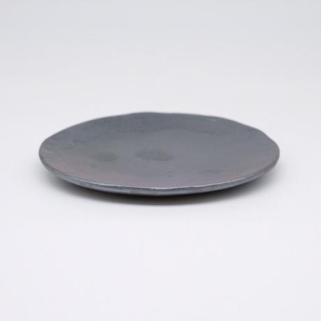 比地岡 陽子 / 銀彩釉銘々皿(実物写真589)