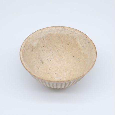 鈴木 進 / 粉引しのぎ飯茶碗(実物写真216)
