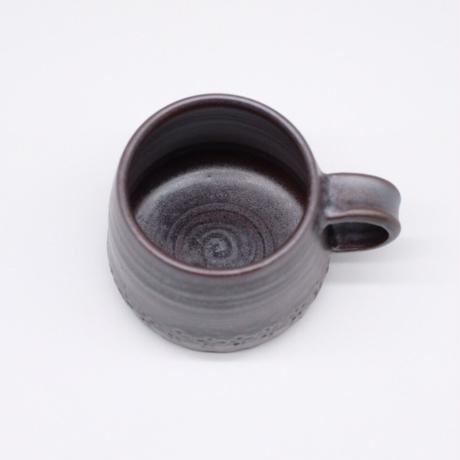 比地岡 陽子 / 銀彩釉 セレンディピティマグ (実物写真616)