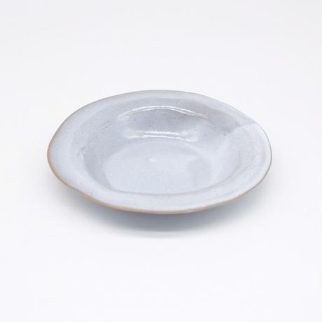 teto ceramic / リムプレート・小・白透明釉薬 (実物写真417)