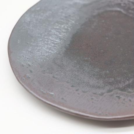比地岡 陽子 / 銀彩釉銘々皿(実物写真569)