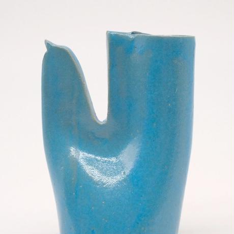 teto ceramic / 鳥の一輪挿し・モロッコブルー (実物写真804)
