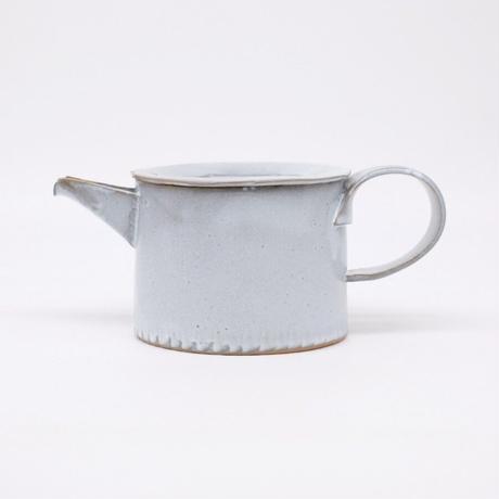 teto ceramic / ポット・白透明釉薬 (実物写真906)