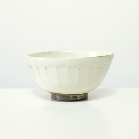 螢松窯 粉引飯碗・中(実物写真)
