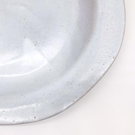 teto ceramic / リムプレート・中・白透明釉薬 (実物写真237)